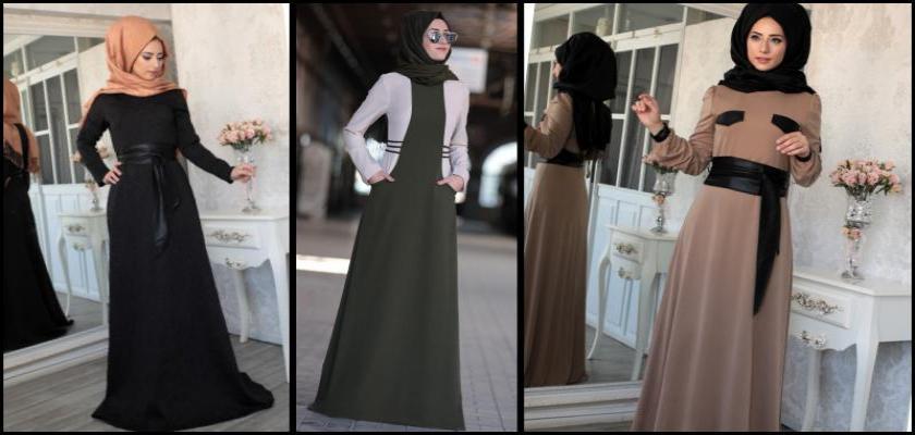 Sezonun En Yeni Tesettür Elbise Modelleri
